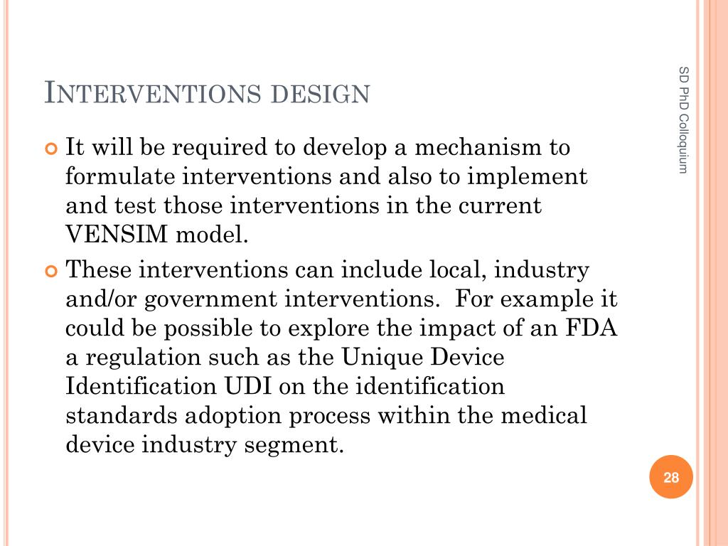 Interventions design