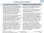 credentials administration38
