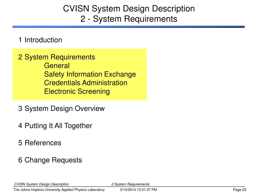 CVISN System Design Description