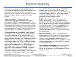 electronic screening42