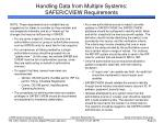 handling data from multiple systems safer cview requirements