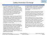 safety information exchange33