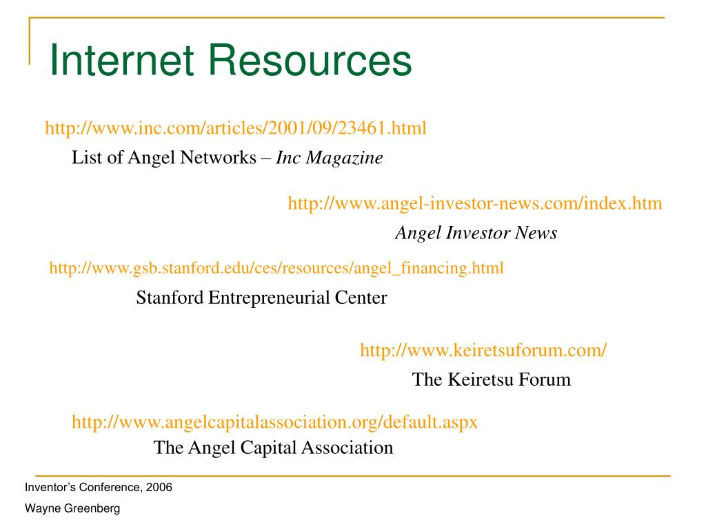 List of Angel Networks –