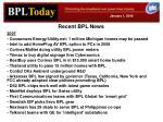 recent bpl news