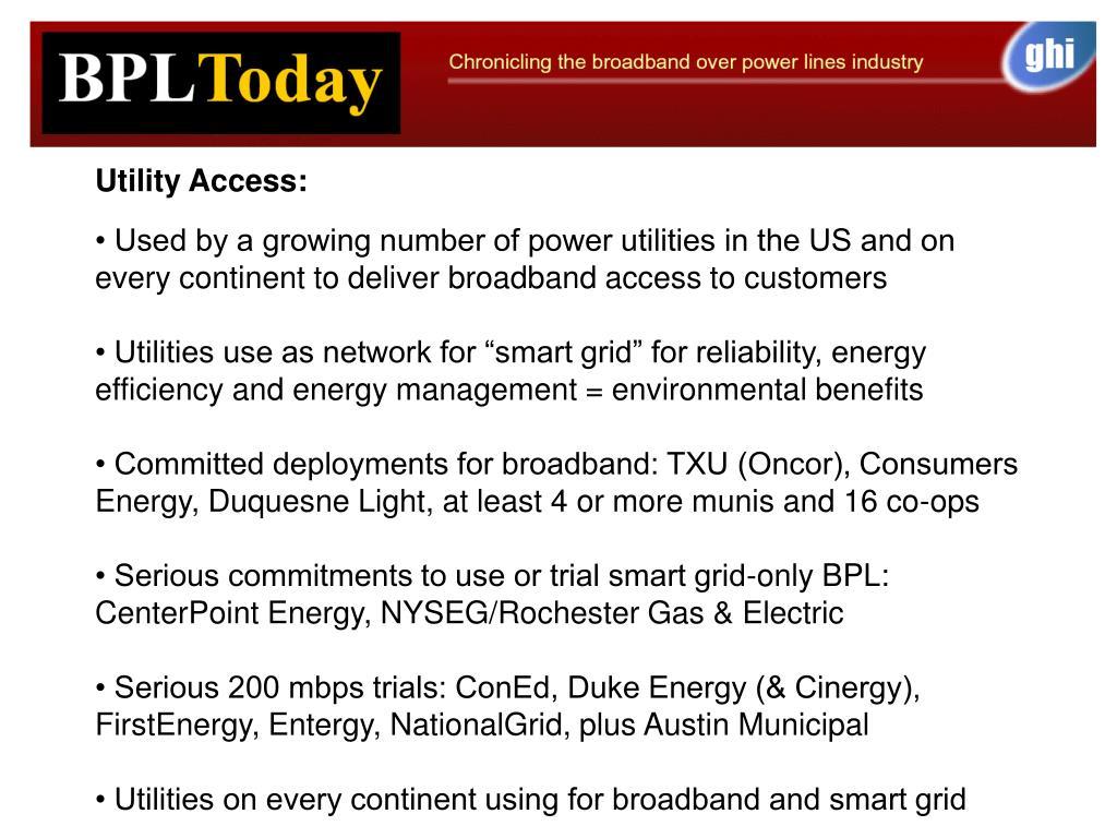 Utility Access: