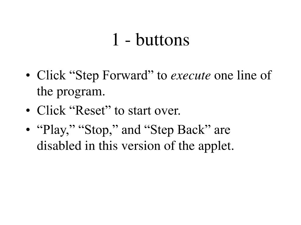 1 - buttons