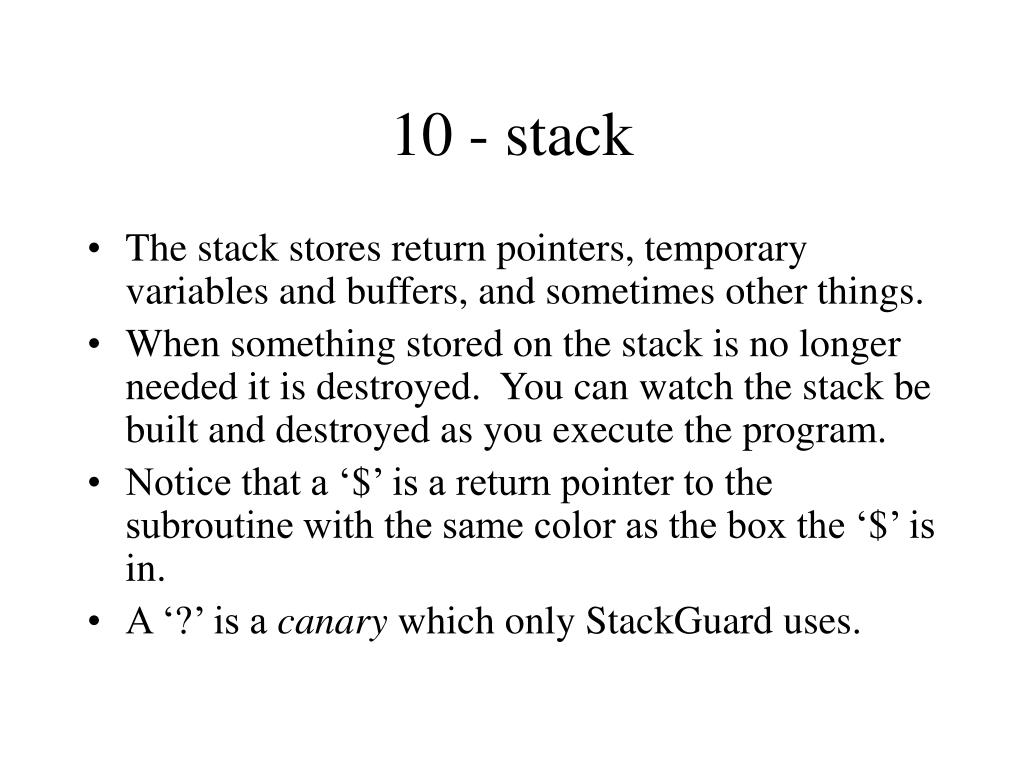 10 - stack