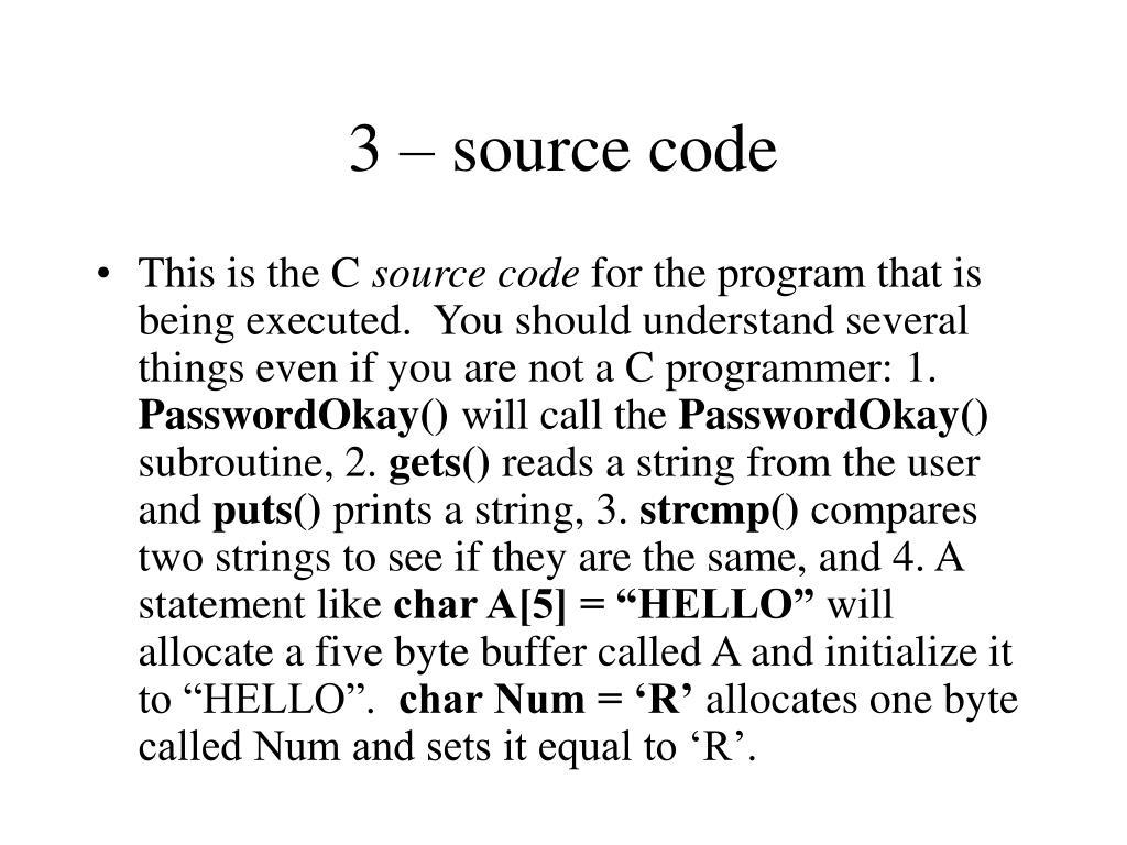 3 – source code