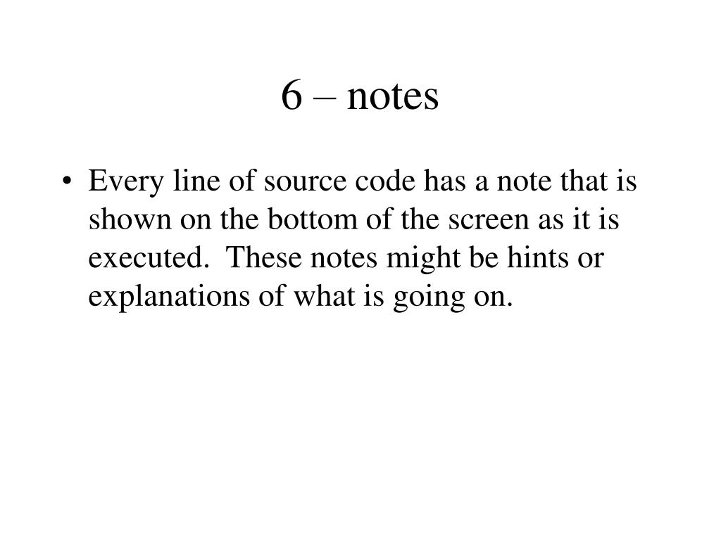 6 – notes