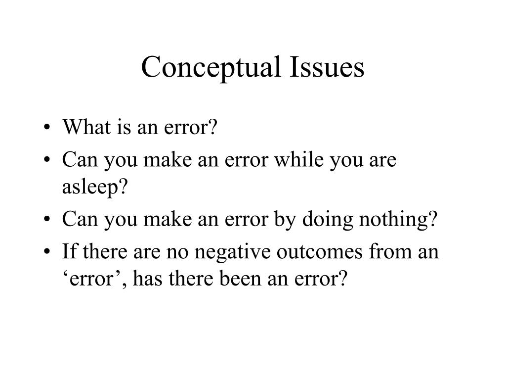 Conceptual Issues