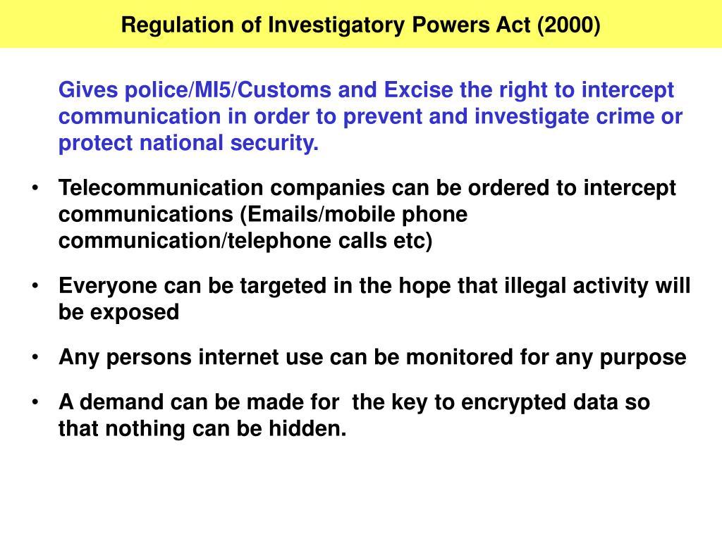 Regulation of Investigatory Powers Act (2000)