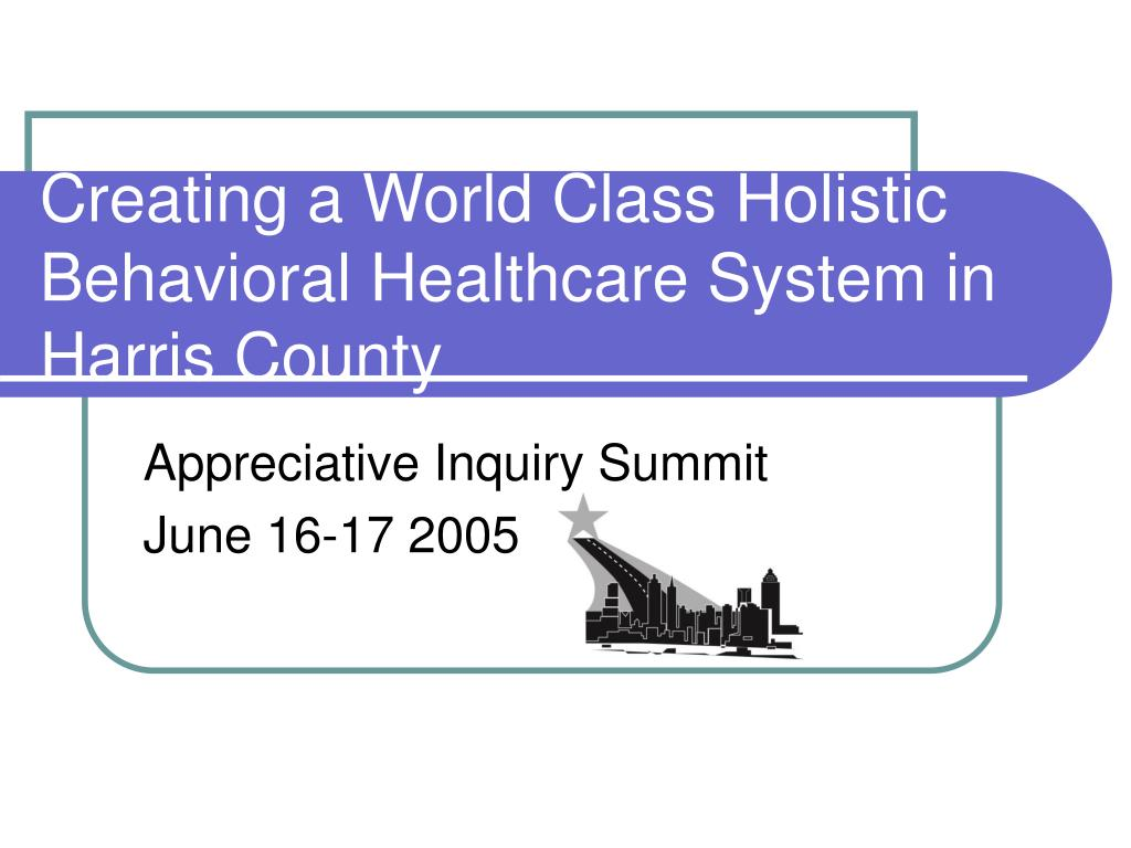 Creating a World Class Holistic Behavioral Healthcare System in Harris County