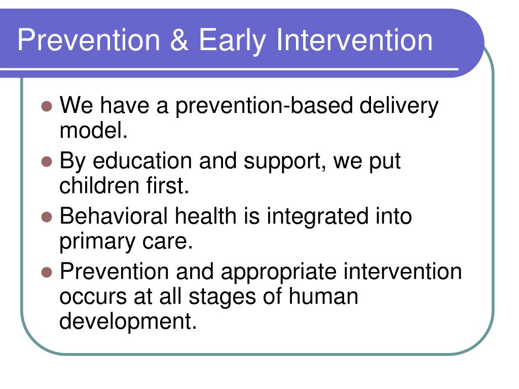 Prevention & Early Intervention