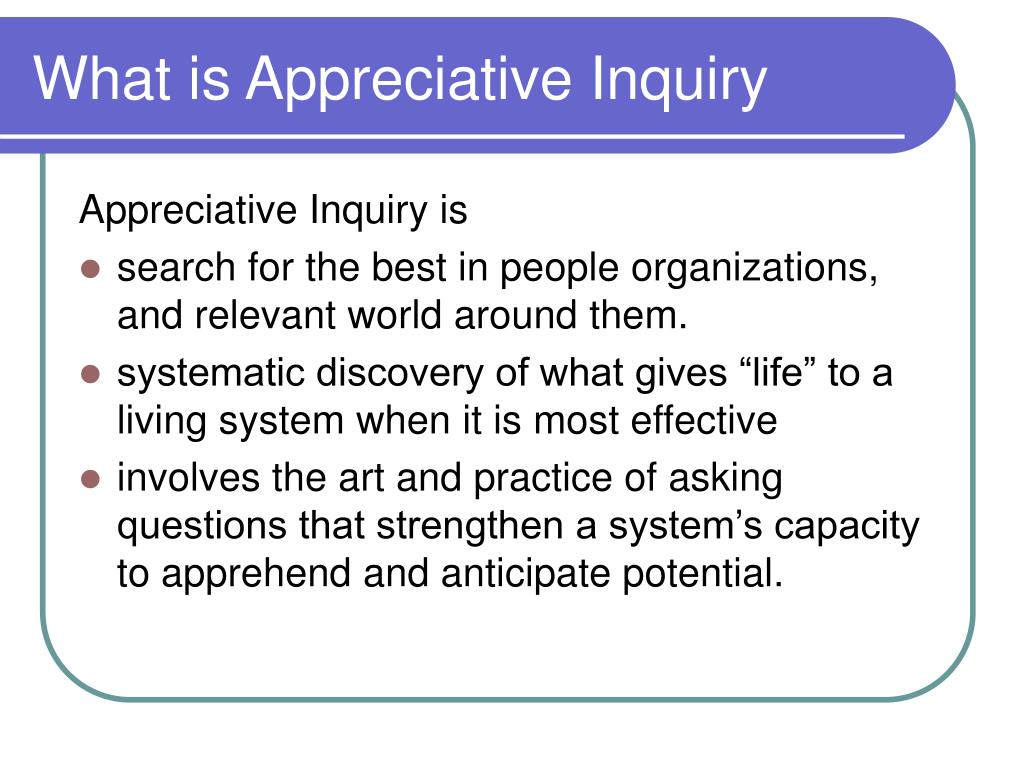 What is Appreciative Inquiry