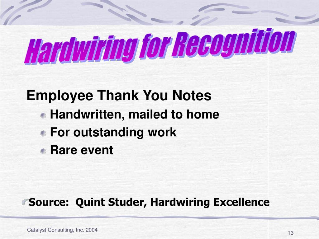 Hardwiring for Recognition