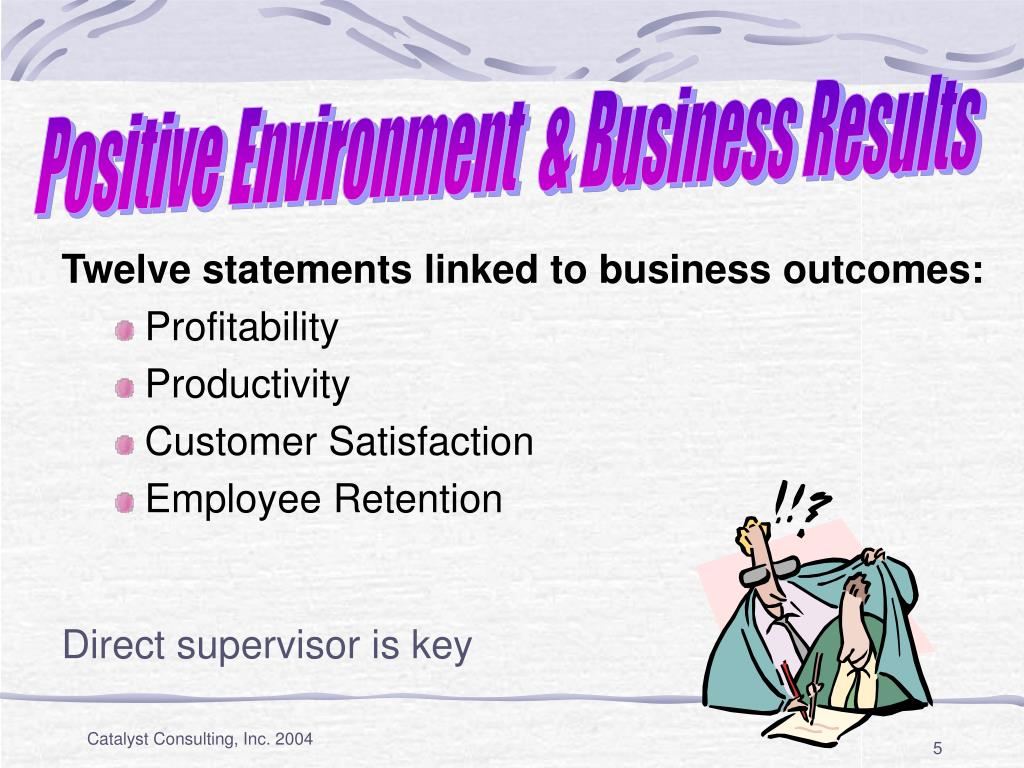 Positive Environment  & Business Results