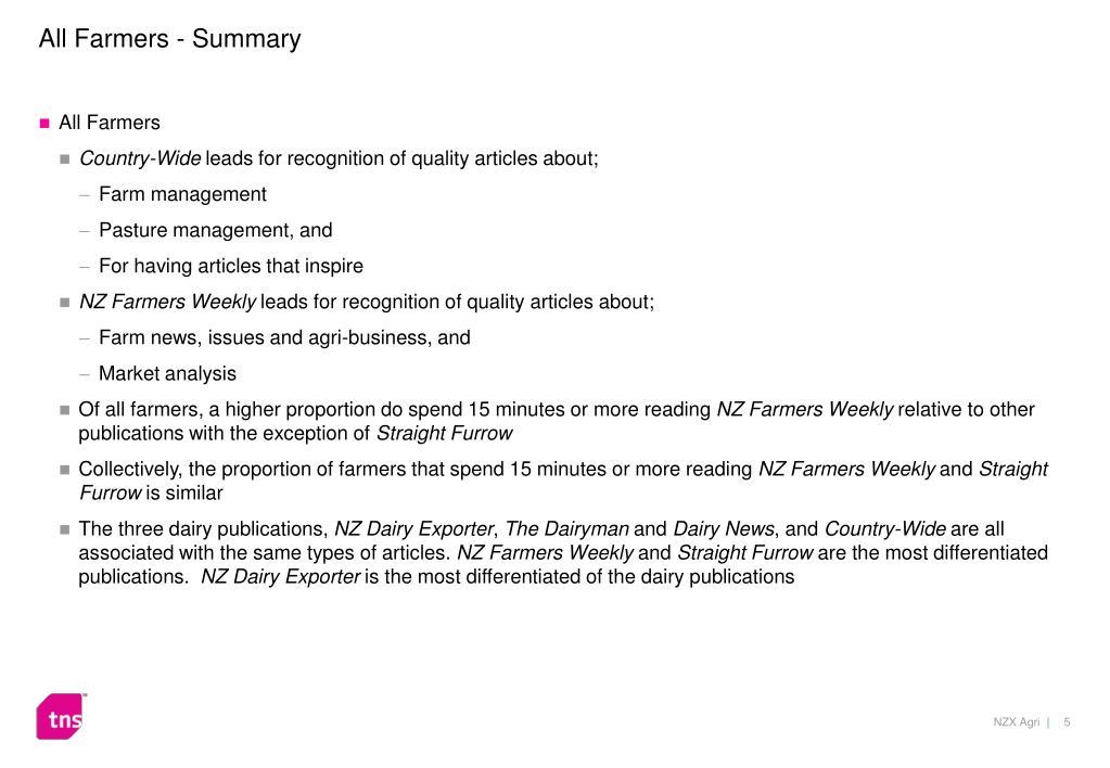 All Farmers - Summary