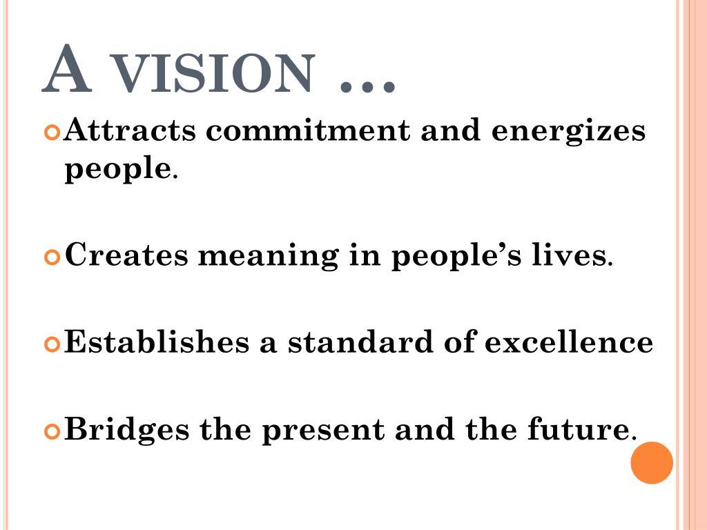 A vision …