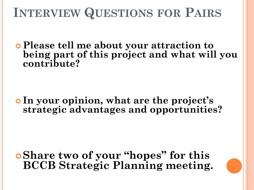 Interview Questions for Pairs