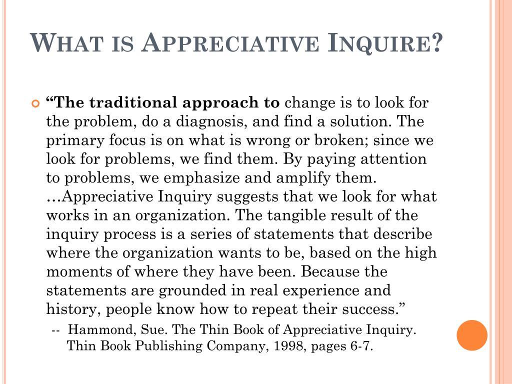 What is Appreciative Inquire?