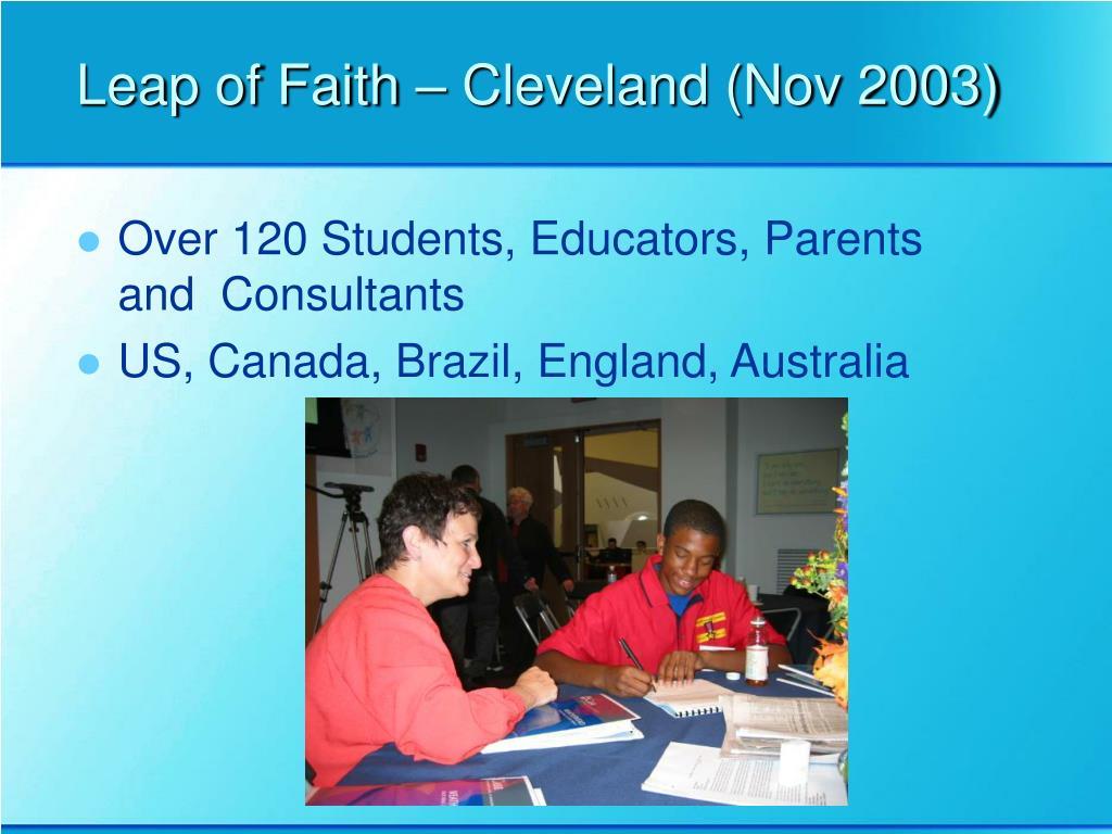 Leap of Faith – Cleveland (Nov 2003)