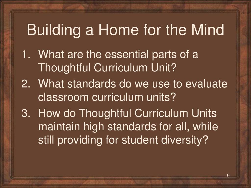 Building a Home for the Mind