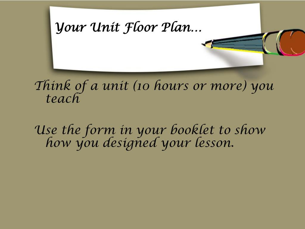 Your Unit Floor Plan…