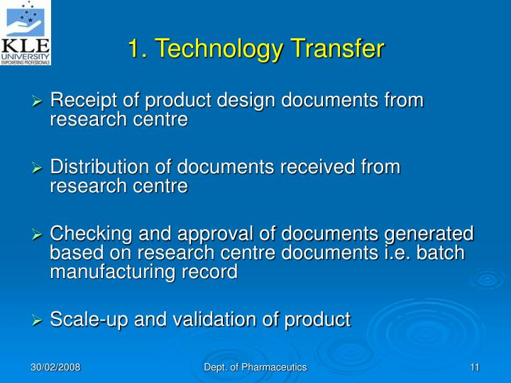 1. Technology Transfer