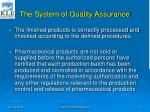 the system of quality assurance2