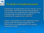 the system of quality assurance3