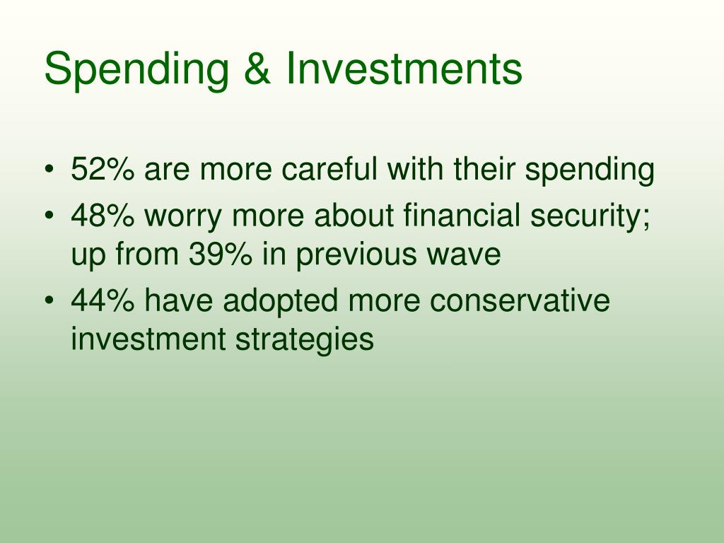 Spending & Investments