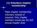 1 voluntary chapter membership