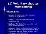 1 voluntary chapter membership63