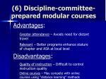 6 discipline committee prepared modular courses73