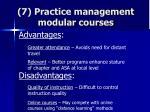 7 practice management modular courses75