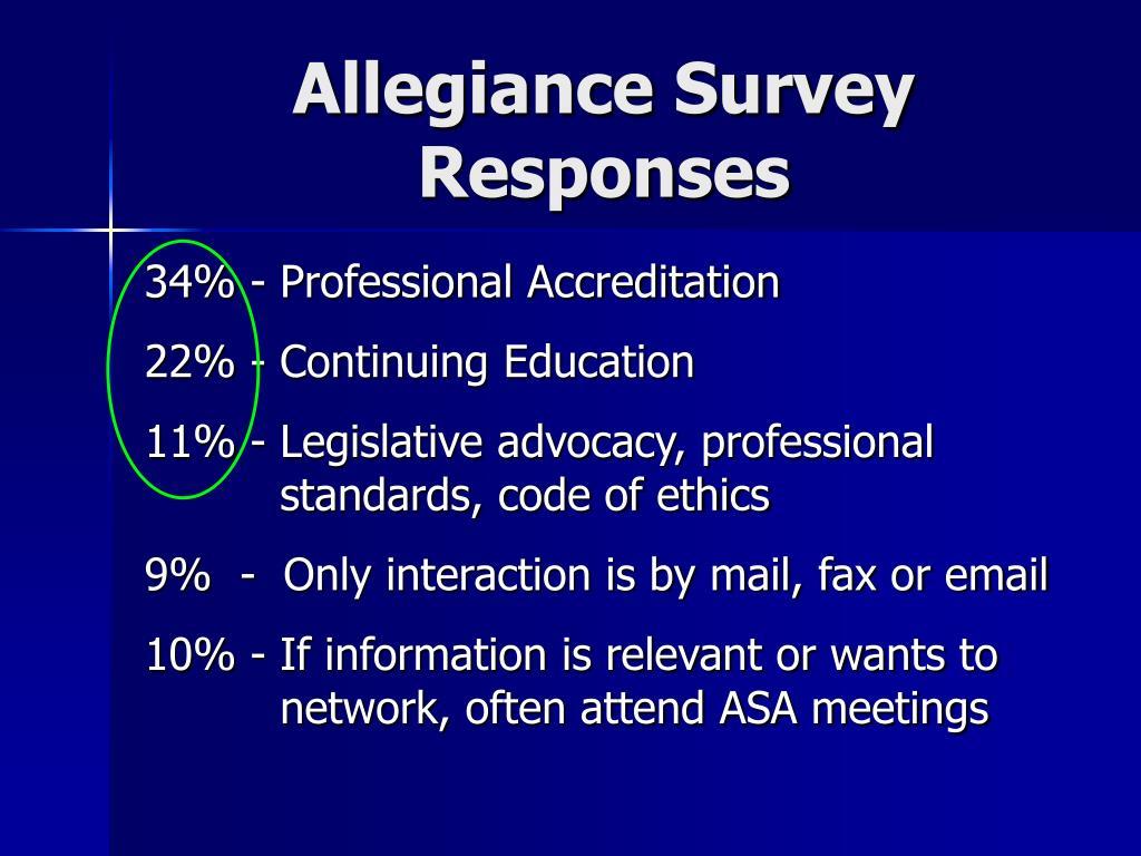 Allegiance Survey Responses