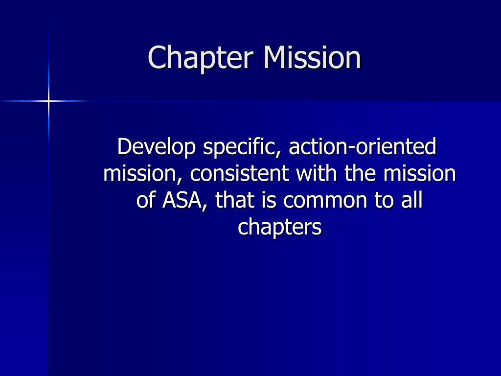 Chapter Mission