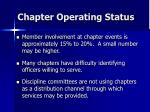 chapter operating status52