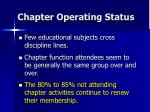 chapter operating status53
