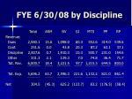 fye 6 30 08 by discipline