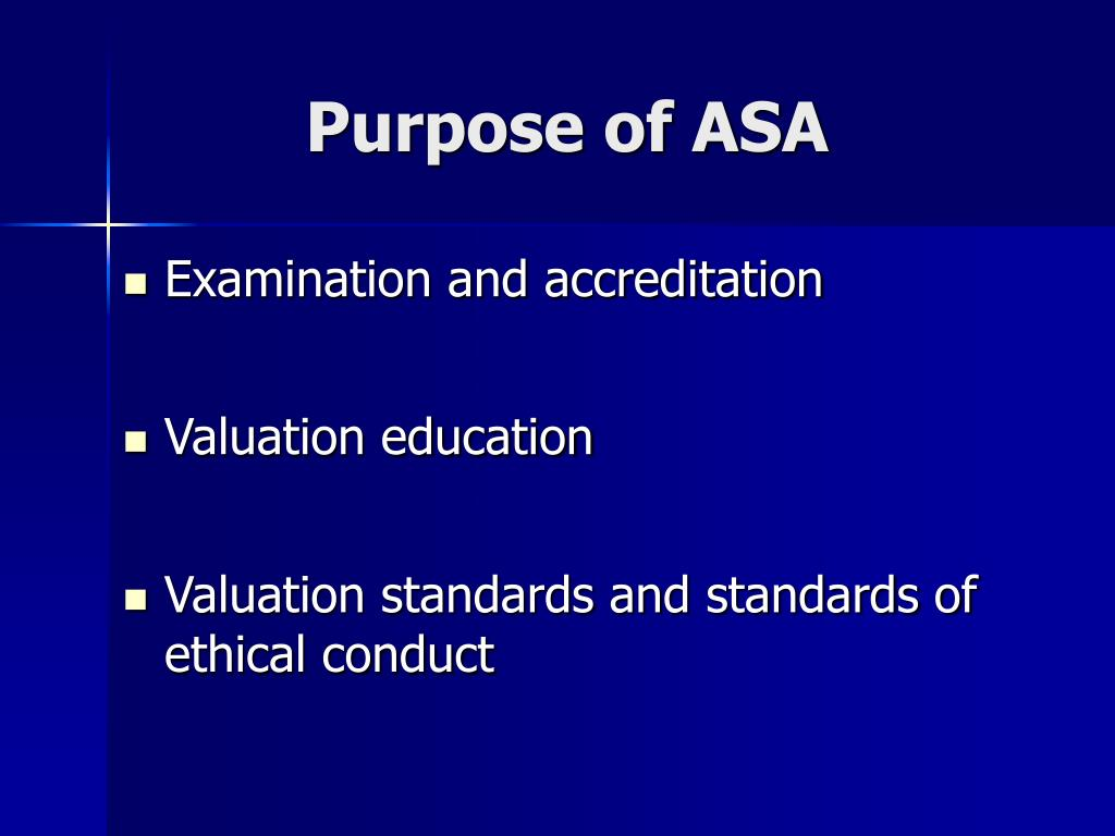 Purpose of ASA