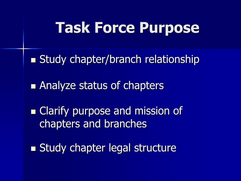 Task Force Purpose