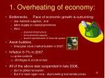 1 overheating of economy