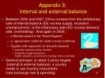appendix 3 internal and external balance