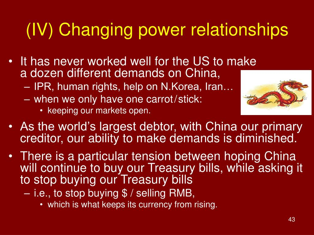 (IV) Changing power relationships