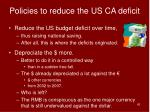 policies to reduce the us ca deficit