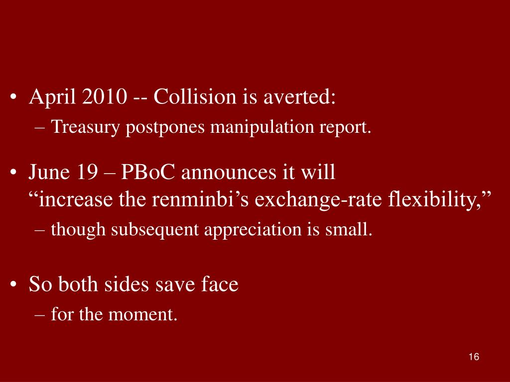April 2010 -- Collision is averted:
