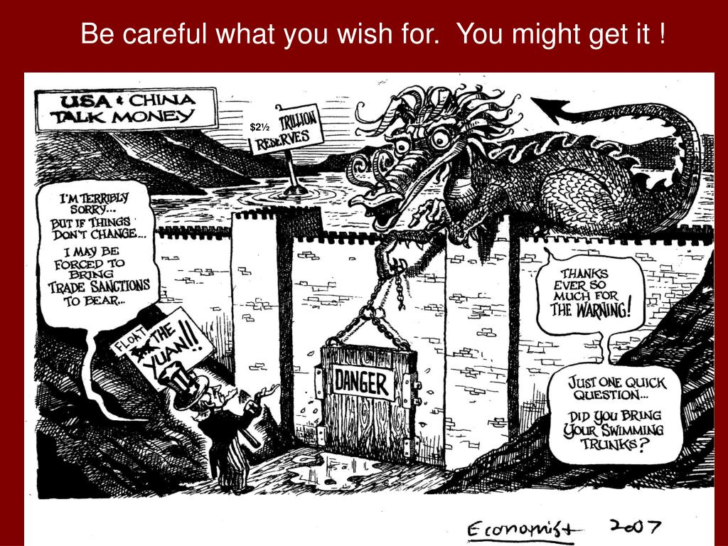 Be careful what you wish for.  You might get it !