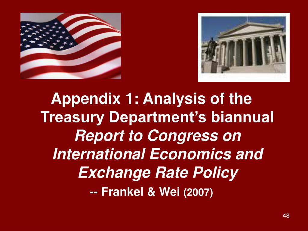 Appendix 1: Analysis of the Treasury Department's biannual