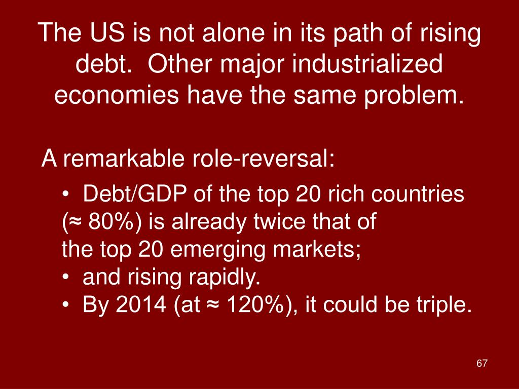 The US is not alone in its path of rising debt.  Other major industrialized economies have the same problem.